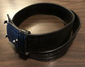 A E Nelson Leather 2 25 Plain Leather Duty Belt Carpenter Sam Browne Size 34