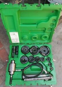 Greenlee 7310sb Hydraulic Knockout 1 2 4 Conduit Punch Set