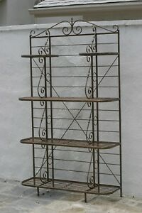 Antique French Bronze Multiple Shelves For Display Plants Objects Circa 1900