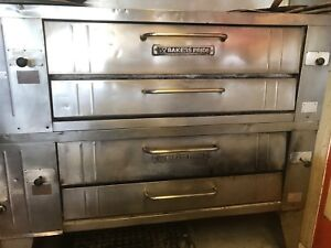 Bakers Pride Y602 Double Deck Pizza Oven Natural Gas