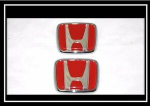 Honda Jdm Civic Prelude Crx Accord Jdm Hood Trunk Red Emblem Badge