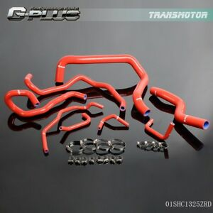 For 94 97 Honda Accord Cd5 Cd7 Cd9 F22b Mk6 Silicone Coolant Hose Pipe Kit Red