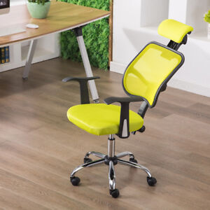 Green Office Mesh Chair Computer Chair Mesh Seat Fabric Chrome Adjustable