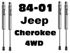 Fox 2 0 Perform Series Front Rear Shocks For 84 01 Cherokee 4wd W 4 6 Lift