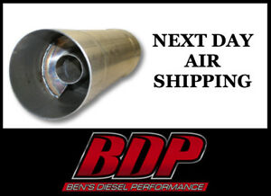 Stainless Fte Resonator Muffler 5x30 For 5 Piping Rm5530ss Next Day Air