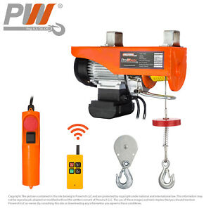 Prowinch Wireless Electric Rope Hoist 440 Lbs Capacity 120v