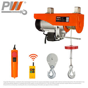 Prowinch Wireless Electric Rope Hoist 2200 Lbs Capacity 120v