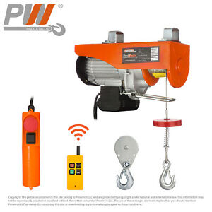 Prowinch Wireless Electric Rope Hoist 1100 Lbs Capacity 120v