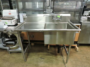 Universal Spg K 1n24 ld24 Commercial 1 compartment Sink With Left Drainboard