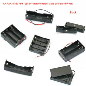 Aa Aaa 18650 Pp3 Diy Battery Holder Case Box Base 9v Volt With Bare Wires Shell