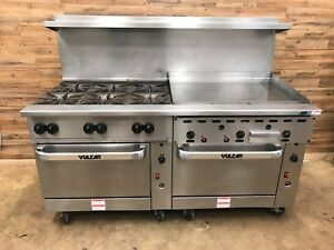 Vulcan 72cc 6b36gtp Propane Gas Range 6 Burner 2 Convection Ovens 36 Griddle