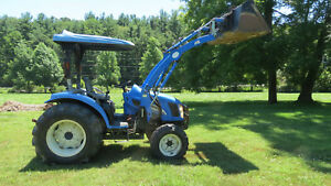 2005 New Holland Tc35da 4x4 Compact Utility Tractor W Loader 35 Hp Diesel Hydro