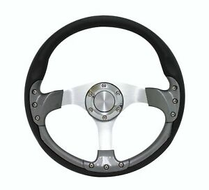 14 Golf Cart Steering Wheel 6 Hole Universal Carbon Fiber Ezgo Club Car