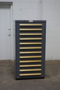 Used Equipto 12 Drawer Cabinet Industrial Tool Storage 1470 Vidmar