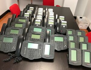 lot Of 31 Various Polycom Soundpoint Ip Phones 330 335 601 Extension Module