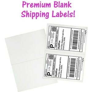 Usa Premium Self Adhesive Shipping Labels 8 5x11 Half Sheet Mailing Ups Fedex