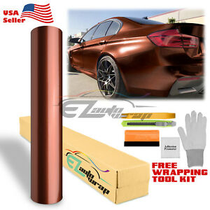 premium Brown Gloss Metallic Glossy Sticker Decal Vinyl Wrap Air Release Free