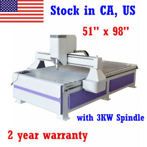 3 Axis 51 X 98 1325 Ad And Woodworking Cnc Router Machine 3kw Spindle Engraver