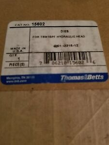 Thomas Betts 15602 Crimper 140 1000 Cu Crimping Crimp Die Hydraulic 15 Ton T