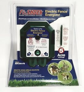 New Fi shock Electric Fence Garden Pet Energizer 5 Acre Coverage Edc5a fs