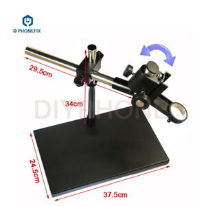 Heavy Duty Dual arm Metal Boom Stereo Microscope Table Stand Holder Ring 50mm