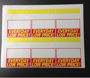 Everyday Low Price Bib Label Price Tags 6 Per Sht 600 Labels