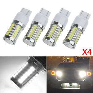 4x T20 7440 7443 W21w Led Canbus 33 Smd Bulb Car Stop Brake Reverse Light White