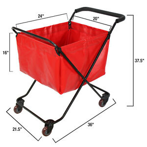 Work right Heavy Duty Folding Utility Cart Shopping Cart Grocery Bag