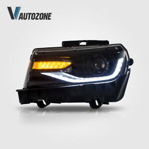 Led Headlight For 2014 2015 Chevrolet Camaro Ls Lt Ss Projector Headlights Set