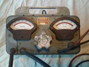 Vintage Portable Sun Electric Battery Starter Tester Tested Working Condition