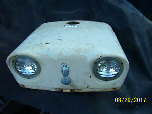 Vintage Ji Case 830 Row Crop Tractor front Hood Lights Both Work 1960