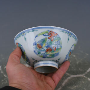 China Antique Porcelainon Qing Yongzheng Doucai Painting Mandarin Duck Bowl