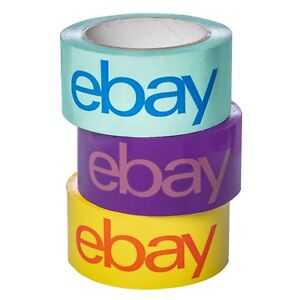 New Release 2 X 75 Yard Purple Blue And Yellow Ebay branded Packaging Tape