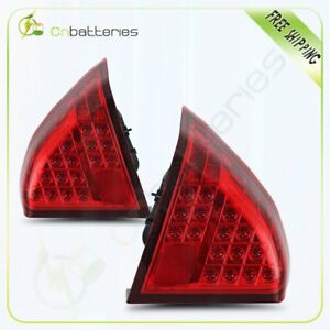 For 2001 2005 Honda Civic 4dr Chrome redled Tail Lights Rear Lamps1 Pair