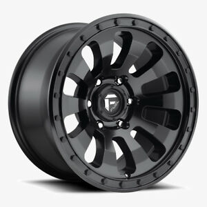 20 Fuel Offroad D630 Tactic Matte Black 20x9 Wheel Set 20inch Rims Trucks
