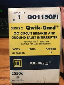 Square D Quik gard Qo115gfi 15 Amp 1 Pole Ground Fault Circuit Breaker