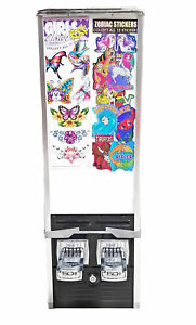 Northwestern 30 2 slot 50cent Chrome Sticker Machine good As Is Black