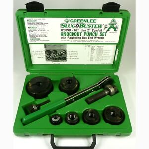Greenlee 7238sb Slug Buster 1 2 2 Knockout Punch Die Kit