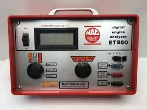 Mac Tools Digital Engine Analyzer Et950 3 Cords And Black Case Included