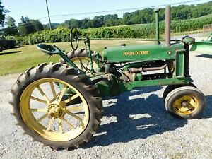Antique John Deere Model B Farm Tractor