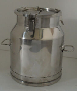 5 3 Gallon Stainless Steel Milk Pail Wine Beverage Pail Edible Bucket Tote Jug