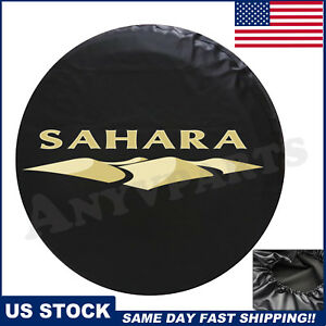 Spare Tire Cover Fit For 2007 2018 Jeep Wrangler Sahara New Leather 82212321