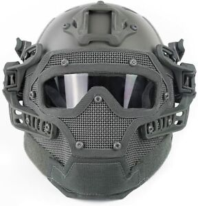 Airsoft Paintball Tactical Fast Helmet Goggles amp; G4 System Games Full Face Mask $86.39