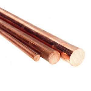 T2 Red Copper Round Rod Bar Solid Lathe Cutting Tool Metal Dia 5 60mm 30cm Us
