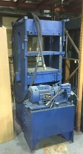 Hydraulic Press Rubber Molding 100 Ton Platen Press W pump
