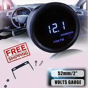 2inch 52mm Universal Car Truck Auto Digital Led Volt Voltage Meter Gauge