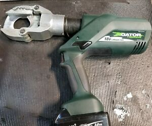 Greenlee Gator Esg50l Cordless Hydraulic Cable Cutter 18v 2 Battery
