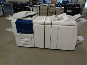 Xerox Color 560 W Jgw1 Lfn1 Booklet Maker Finisher Meter 597k Ct