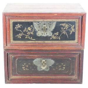 Pair Of Antique Chinese Travel Trunks Chests 31 Wide X 20 Deep X 14 Tall Each