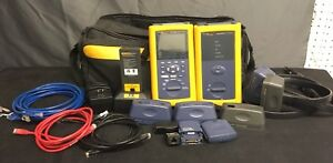 Fluke Networks Dsp 4300 Digital Cable Analyzer Tester Set Bundled W Attachments